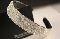 25mm width fashion silver rhinestone headband korean hair accessories for women girls bride hair jewelry