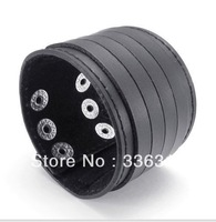 LBG0022136  Fashion Jeruk Punk Style black Leather  Bracelet mens Punk Fashion Belt Bangle Cuff Wristband