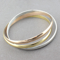 women's fashion bangles bijoux fashion stainless steel 3 color bangle personalized jewellery  B-019