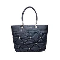 Mugler new arrival women's shoulder bag rivet dimond women's plaid handbag black handbag