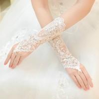 Free Shipping New Hot SaleBridal Long Rhinestone straps gloves wedding accessories
