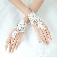 Free Shipping New Hot Sale Korean  rBridal lace flowers gloves Wedding accessories