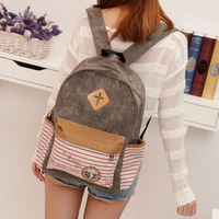 Preppy style female backpack middle school students school bag Hot selling Women casual travel canvas backpack