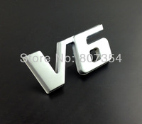 Excellent new V6 Matte metal car badge sticker logo for Mercedes Benz,Chevrolet,ford,Toyota,Mitsubishi,Nissan,Hyundai emblem