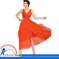 Black/White/Red/Green/Pink Color Chiffon Dress Evening Formal Party Bal Colorful Long Elegant Women Dress