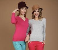 100% Pure Cashmere women Sweaters Bestsellers v-neck Basic models Classic Simple Base Blouses easy to match High quality