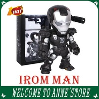 New 2013 ironman 3 action figures anime black Fighter iron man toy with Light 15cm Car decoration Doll Model  /free shipping