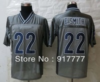 2013 Fashion  Dallas  22 E.Smith  Grey  Elite American Football Jerseys Free Shipping