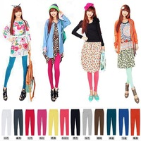 2014 Spring-summer New Combed Cotton Korean 9 Minutes Of Pants,Women's Slim Leggings Pure Color Little Feet Pants DH008