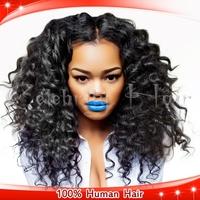 Brazilian Virgin Hair Two Tone Curly Glueless Full Lace Human Hair Wigs For Fashion Women Natural Hairline Bleach Konts
