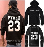 Hot New Autumn Winter 2014 Pyrex Vision 23 Lovers Pullovers Sweatshirt Fashion GD Men Cotton Outerwear Novelty Hoodies Jacket