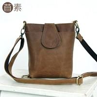 One small cowhide shoulder bags 2013 vintage messenger bag