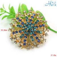 Free Shipping 6PCS/Lot blue and green rhinestone crystal broch brooch coat women breastpin jewelry P458-014