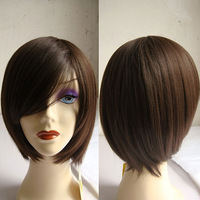 Free Shipping Hot Item New Stylish Black Short Straight Lady's Fashion Sexy Party Cosplay Synthetic Hair Wig/Wigs