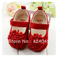Free shipping baby prewalker shoes first walkers Red roses little princess shoes casual shoes baby shoes TZ422