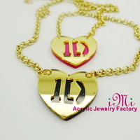 1D Heart  One Direction Laser Cut Acrylic Necklace