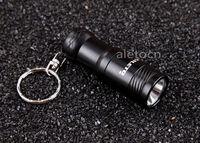 Best price 1600 Lm Mini pocketable CREE XM-L T6 LED Keychain Torch black Flashlight Lamp