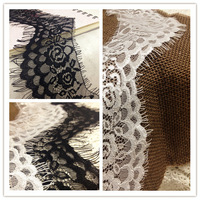 Eyeholes flower-shaped white black lace diy accessories the 3 meters 8cm wide laciness