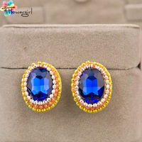 Min Order $10 (Mix Order) 2013 new arrive free shipping elegant sapphire classic  girls earring  [2013-D63]