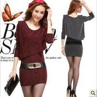 2013 women's autumn charm fashion long-sleeve slim dress with belt