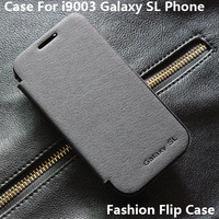 Luxury original design battery housing case leahter flip cover for Samsung i9003 galaxy SL retail packing free shipping