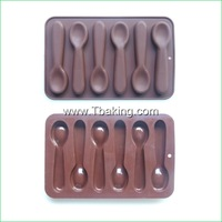 New Silicone Cookie Chocolate Mold Candy Jelly Cake Decorating Spoon Shape