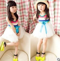 brand baby girl dresses princess kids girls' tutu dresses christmas girl dress new 2013