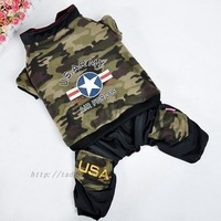 Large dog winter pet clothes cotton-padded jacket dog autumn and winter split Camouflage loading wellsore clothes