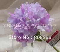 "NEW 24Pcs 26cm/10.24"" Length Artificial Silk Flowers Simulation Single Hydrangea Korean Floral Home Decoration Corsage"