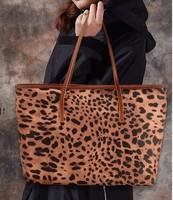 Fashion shoulder bag genuine leather female leopard print vintage bag women's handbag