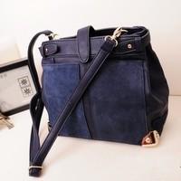 Female bags 2013 women's handbag winter color block small bag vintage bag messenger bag shoulder bag