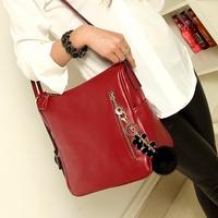 Shoulder bag female bags 2013 casual fashion vintage bag handbag female color block all-match small bag