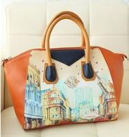 2013 women's handbag smiley bags one shoulder cross-body bag doodle vintage handbag