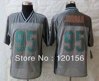 2013 Fashion Miami  95 Dion Jordan Grey  Elite American Football Jerseys Embroidered Logos Mix Order