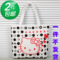 Hot-selling 2013 brief women's canvas bag handbag letter bag one shoulder bag shopping bag