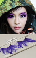 Purple feather false eyelashes turbidness cosmetic