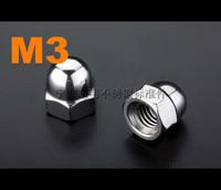 Hex cap nut M3 DIN1587 Stainless steel