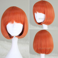 Free Shipping BOB Hair Styling Heat Resistant Synthetic Hair Wig For Women Fashion orange cosplay anime wig