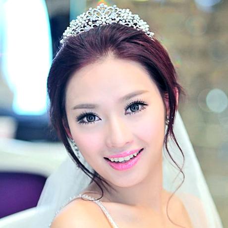 Wedding Hair jewelry Love colour bride princess hair accessory pearl rhinestone marriage accessories wedding accessories