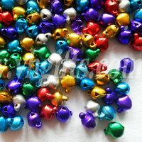 5000PCS/LOT. 6mm Jingle Bells,Lacing bells,Christmas decoration, Promotion items,DIY crafts, Handmade accessories.Mixed color.