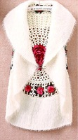 Autumn and winter 2013 women's cutout crochet cape vest sweater outerwear women's casual cardigan sweater