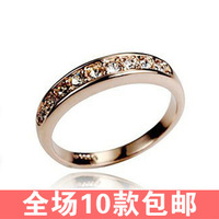 0964 lovers ring female brief single-row ring pinky ring gift