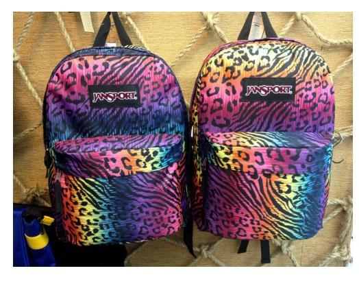Freeshipping 2013 Harajuku zipper lovers backpacks neon leopard print shoulder school bag skateboard galaxy bagpacks BK273(China (Mainland))