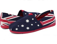 Free shipping ! Fashion Sneakers for Women's shoes UK national flag flat mary janes round toe Canvas shoes
