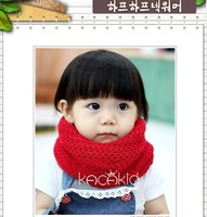Free shipping! keep warm new style pure colour neckerchief girls Scarves baby candy scarf kids scarf mixed color 2pcs/lot