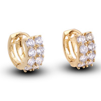 ER0449 carina jewelry (min order is $5Costume 18k Gold Plated Hoop Earrings Jewelry  with Evironmental Coppe