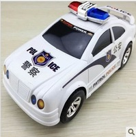 Hot  toy car electric simulation model of a police car toy universal will turn four police sirens