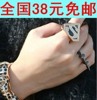 Free shipping fashion 2014 fashion super man letter S pattern female female rings for girls and women