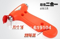 2 in 1 13*7.5cm Car safety hammer Emergency Hammer with Car Glass Breaker + Seat Belt Cutter