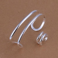 925 silver fashion Ring and Bangle Jewelry Set free shipping wholesale Gift for women